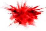 color powder explosion on white background. - 166215599
