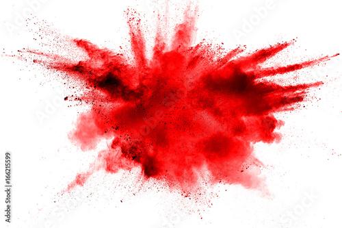 eksplozja koloru proszku na białym tle.