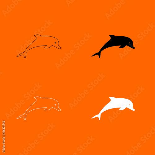 Fototapeta Dolphin icon .