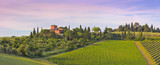 Winery w godzinach wieczornych w Toskanii, (Chiantigebiet)