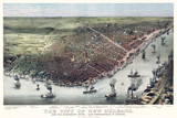 New Orleans, Louisiana, Old aerial view. Currier & Yves, New York, 1885 - 166227743