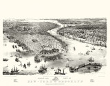 New York Old aerial view. ByJohn Bachmann. Publ. A. Guerber & Co., New York, 1851 - 166227771