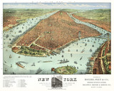 New York old aerial view. by Rogers, Peet & Co.. Currier & Yves, New York, 1879 - 166227922