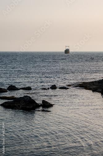 An old shipwreck near Cyprus, Paphos