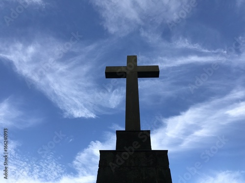 Kreuz auf dem Friedhof