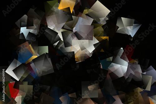 Czarne tło z kolorową mozaiką