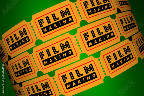 Poster Film Making Director Movie Production Tickets 3d Illustration