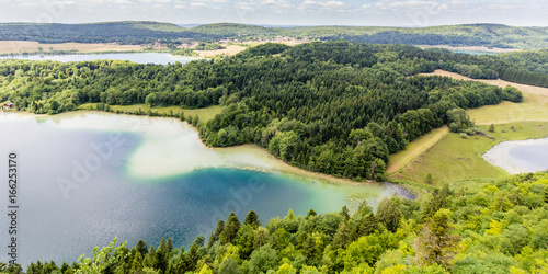 Foto op Aluminium Bleke violet Region of the four lakes in the French Jura