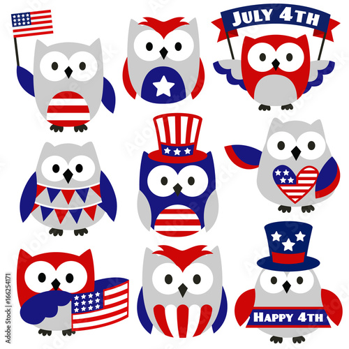 4th of July Owls