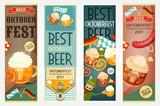 Oktoberfest Beer Festival Banners Set - 166256767