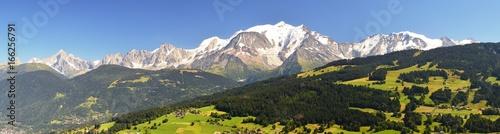 Panorama Massif du Mont Blanc Coubloux