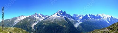 Staande foto Nachtblauw Massif du Mont Blanc