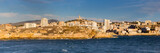 View of Marseille from the boat leaving the port