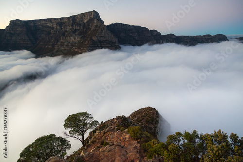 Table Mountain in Fog