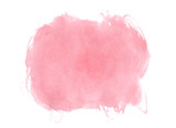 Fototapety Pink watercolor stain on white background