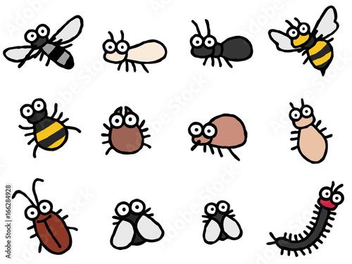 害虫 デフォルメ 蚊 他 - 166284928