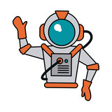 astronaut hand up icon image - 166295702