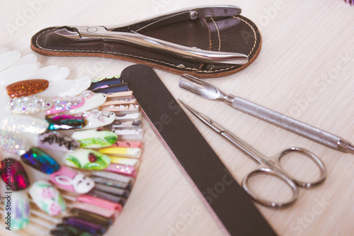 Set of manicure instruments