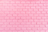 Fototapety Pastel pink ordered brick wall texture background,backdrop for lady or woman concept