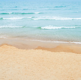 Sandy beach and sea. Abstract background