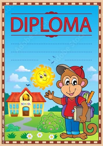Tuinposter Voor kinderen Diploma concept image 7