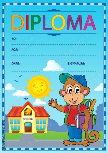 Tuinposter Voor kinderen Diploma concept image 8