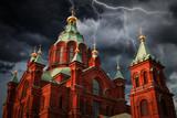 Helsinki Katedra Wniebowstąpienia w Helsinkach.