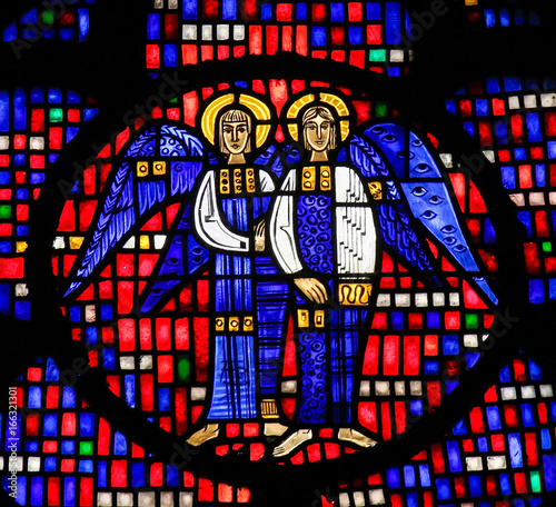 Stained Glass in Worms - Two Angels - 166321301