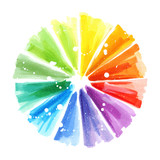 Art color wheel brush stroke hand drawn design element - 166329382