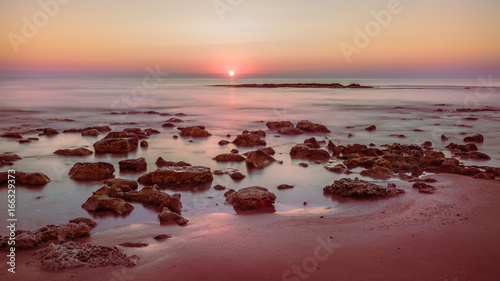 Dawn sea rocks