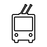 Trolleybus line icon. Public transport vector symbol