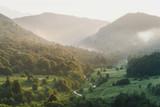 Mountain valley in summer.