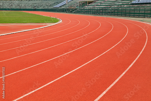 Running tracks in stadium.