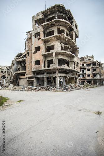 ville de syrie détruite, Homs Poster