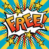 Free! Napis w stylu Pop Art