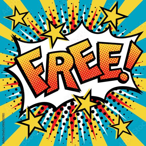 Free! Pop Art Text Design