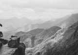 Black and white Vattakanal Viewpoint