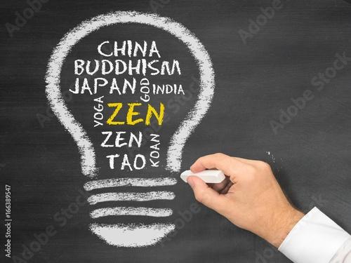 Deurstickers Zen zen