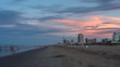 Long Exposure of South Padre Island Beach At Sunset