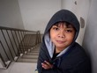 Young boy wearing a hoodie jacket