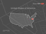 Vector Dotted USA Map