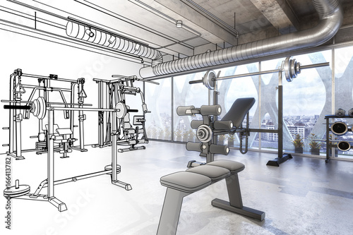 Weights Training Equipment (scetch) © arsdigital