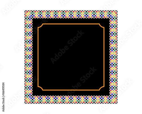 Foto op Aluminium Vintage Poster Vector frame with patterns