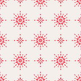 seamless christmas pattern with scandinavian ornaments