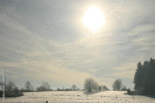 Foto op Canvas Donkergrijs Winterlandschaft
