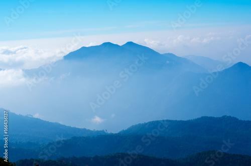Morning mist on the mountain