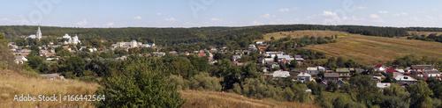 Papiers peints Photos panoramiques Panorama of ancient village Strusiv, west Ukraine.