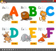 educational cartoon alphabet letters for learning - 166449986