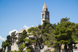 The Franciscan Monastery on Lopud, Dalmatian coast, Southern Croatia.  One of the Elaphiti islands. - 166452596