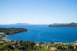 Overlooking the town of Lopud,  Lopud island, Dalmatian coast, Southern Croatia.  One of the Elaphiti islands.